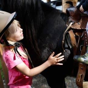 Ponys reiten am Kinderbauernhof!