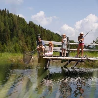 Forellen fischen im Kärnten-Urlaub!